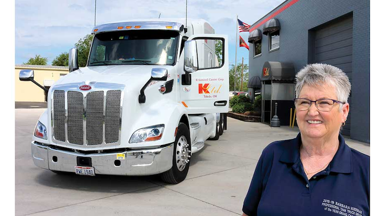 Diligent effort earns Barbara Herman NTTC's Professional Tank Truck Driver  of the Year honor | Bulk Transporter