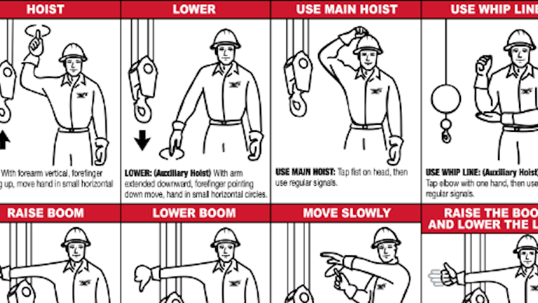 Lower The Boom Crane Operation Hand Signals You Must Know Contracting Business