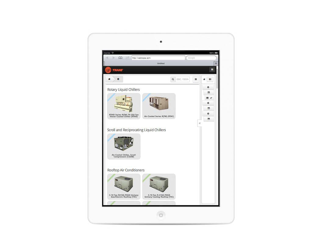 Trane Updates Mobile TOPSS Product Selection Tool for HVAC