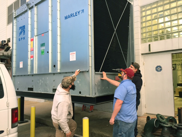 Apprentice Steamfitters Use Donated Cooling Tower For Hands On