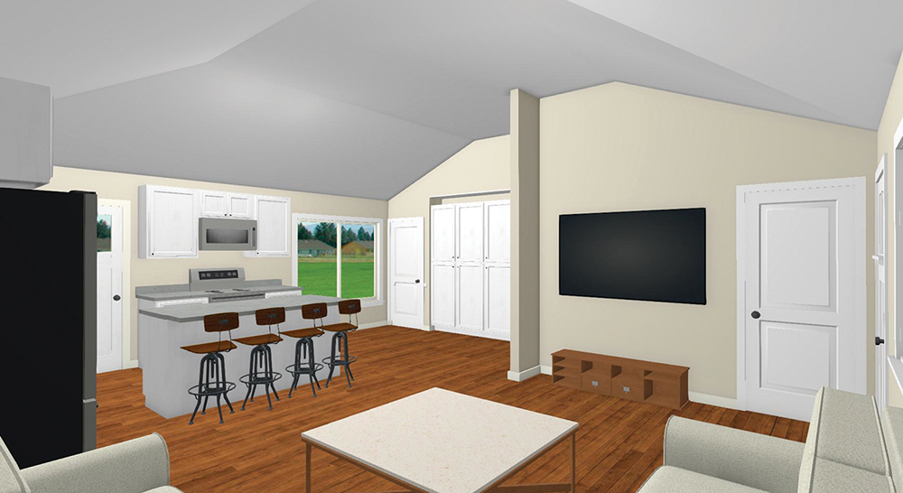 This project will transform a 1950s home, located in a floodplain, into a more modern structure. The plan also calls for an Accessory Dwelling Unit to the rear of the.