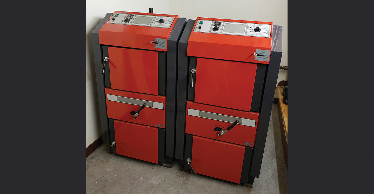 Gasification wood boilers.