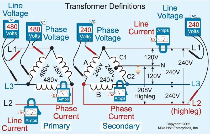 understanding the basics of delta transformer calculations | ec&m 480v 3 phase delta transformer wiring diagram high leg delta 480 ec&m