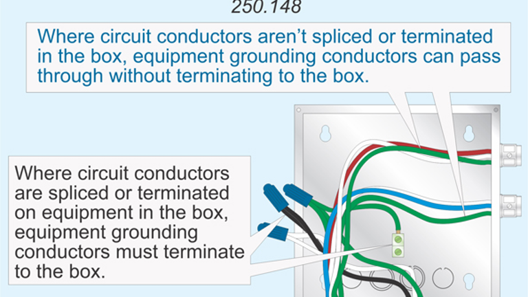 Code Q&A: Attachment of Equipment Grounding Conductor to Box | EC&M | Recep Isolated Power System Wiring Diagram |  | EC&M