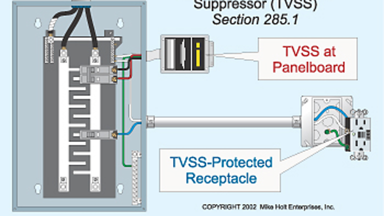 Separate the Arresters From the Suppressors | EC&M | Tvss Wiring Diagram |  | EC&M