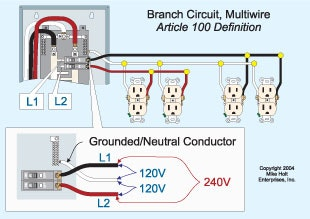 Shared Neutral Wiring Diagram