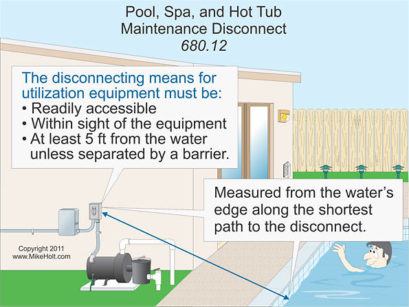 Stumped By the Code? Requirements for Installing Maintenance Disconnect at  a Pool, Acceptable Wiring Methods for Class I Locations, and More | EC&M | Pool Wiring Code Diagrams |  | EC&M