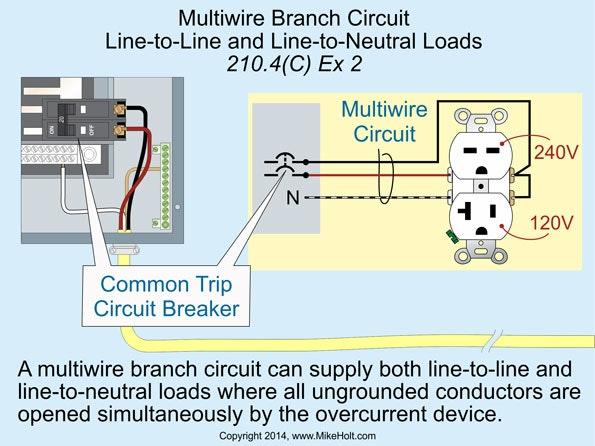 Multi Wire Branch Circuit Diagram