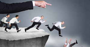 Leading People Over Cliff