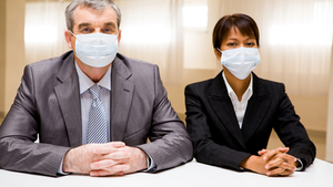 Business People In Masks Pressmaster
