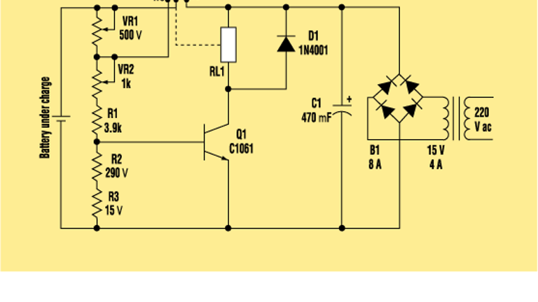 Build A Smart Battery Charger Using A Single Transistor Circuit Electronic Design