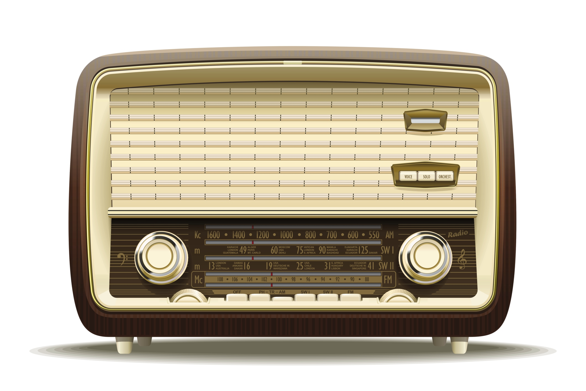 Production factory general purpose radio stations and radios