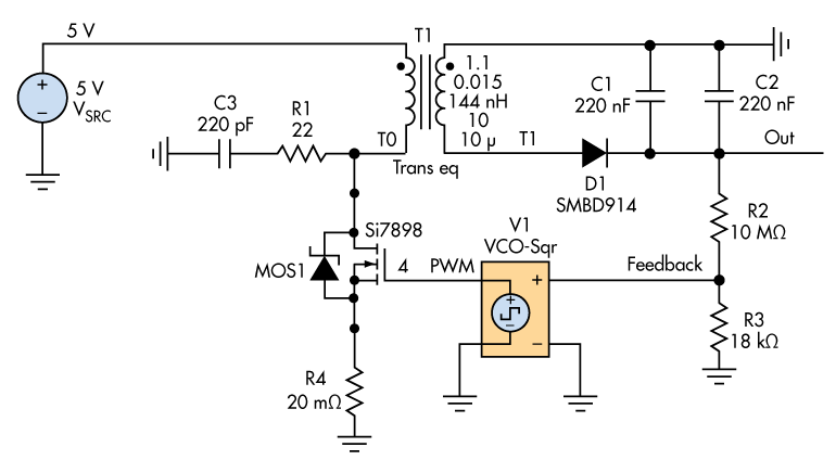 flyback transformer wiring diagram take a flier on the flyback for your high voltage circuit design  high voltage circuit design