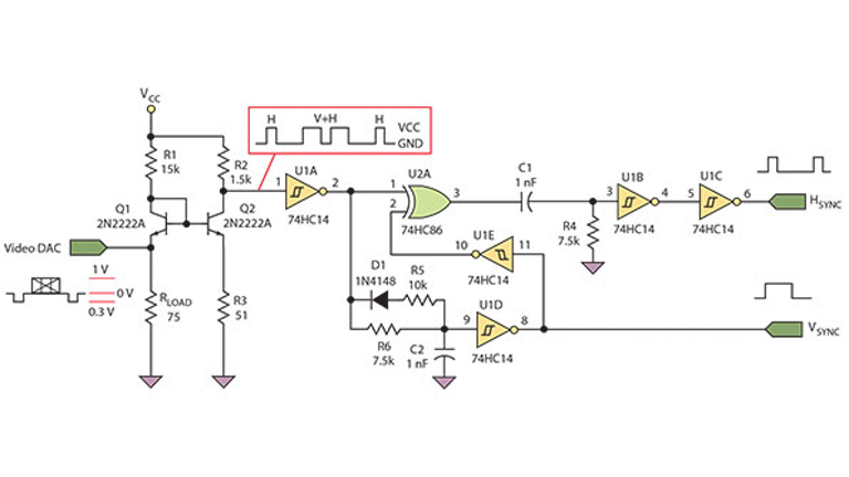 [DIAGRAM_3ER]  RGB Video-Sync Separator Interfaces VGA Monitor Using Basic Components |  Electronic Design | Vga To Rgb Wiring Diagram |  | Electronic Design