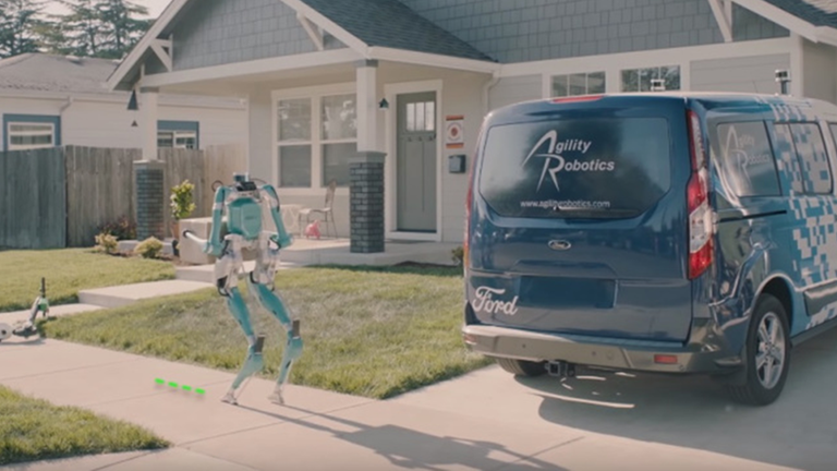 Ford Self Driving Vans Will Use Legged Robots to Make