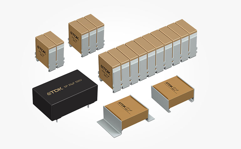 9. In addition to a special dielectric, TDK's CeraLink ceramic capacitors come in tightly stacked configurations to lower inductance and equivalent series resistance (ESR). (Courtesy of TDK)