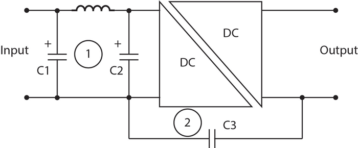 4. This circuit diagram represents an isolated dc-dc converter subsystem.