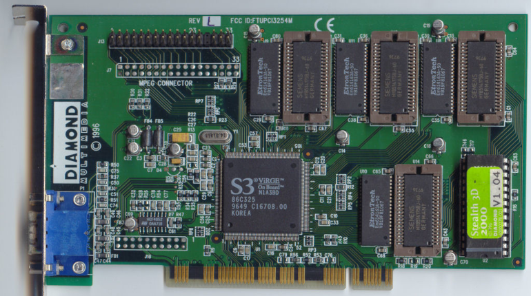 Figure 2: S3's ViRGE on Diamond Multimedia board.