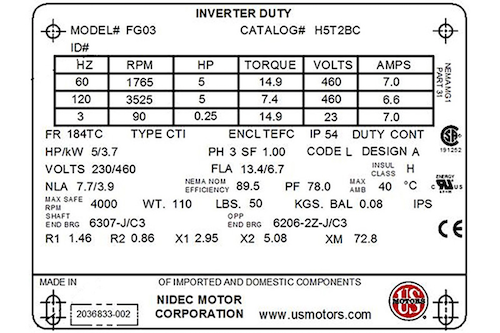 How do you size a VFD? | Flow Control Network H Ton Bay Fan Motor Wiring Diagram Solid Fonts on