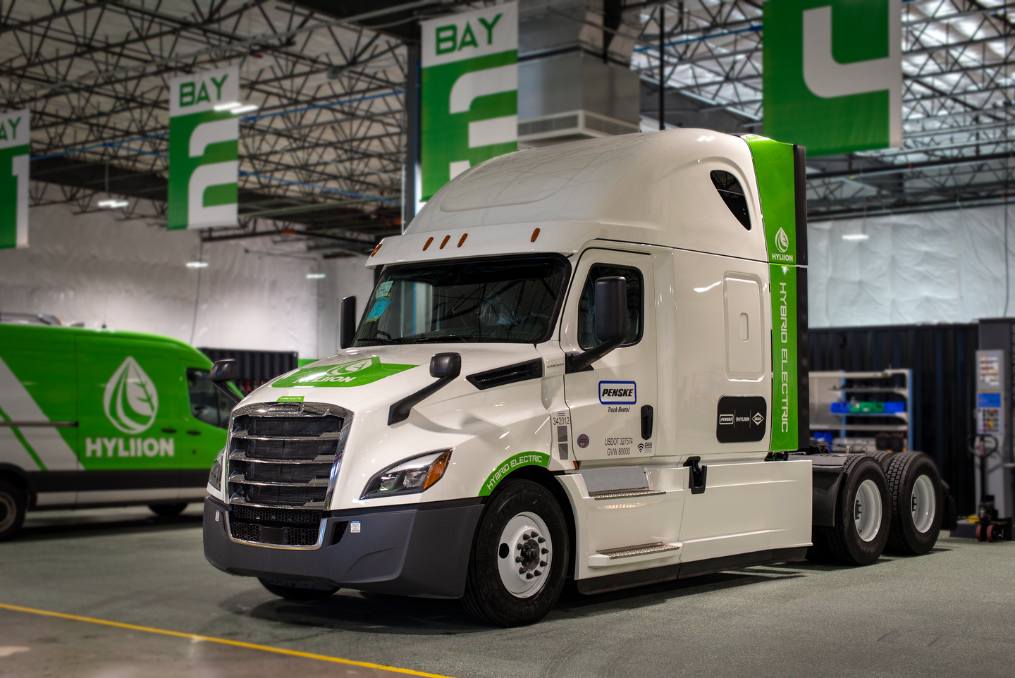 Penske has been an early adopter of the Hyliion Hybrid Diesel solution.