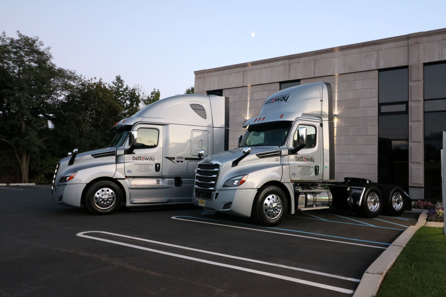 Bettaway's fleet of 150 Freightliner Cascadias are equipped with collision avoidance to prevent crashes, and dash cams to understand how crashes happened.