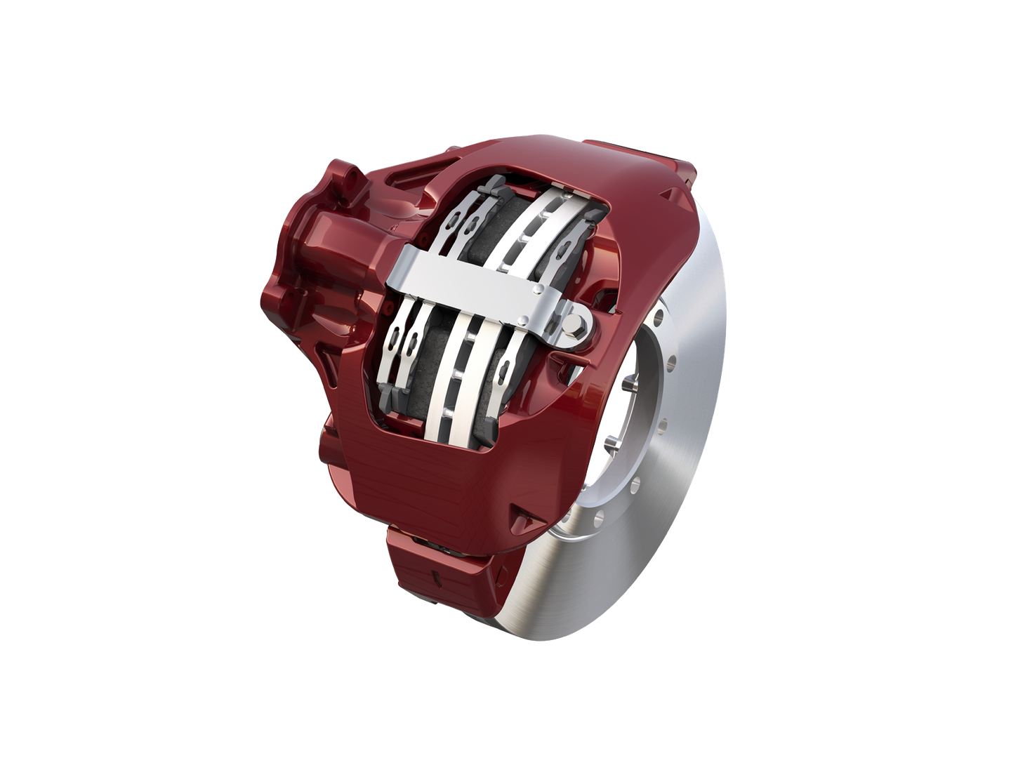 The single-piston EX+LS air disc brake weighs 71 lbs. (caliper and pads) making it Meritor's lightest ADB. The MA9300 N-level proprietary friction complies with 2025 Environmental Protection Agency standards for copper content.