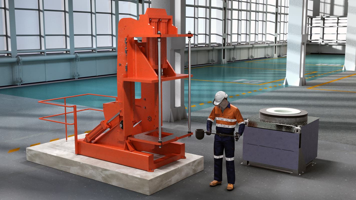 Product manufacturing technological equipment for foundry