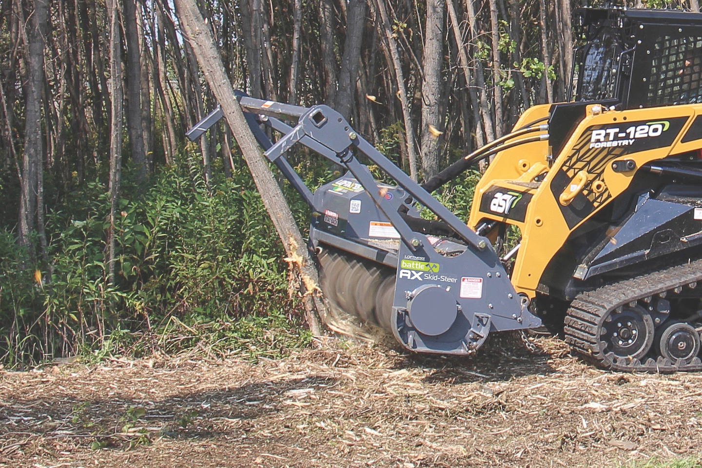Loftness Introduces Battle Ax Mulching Attachment For Skid Steers