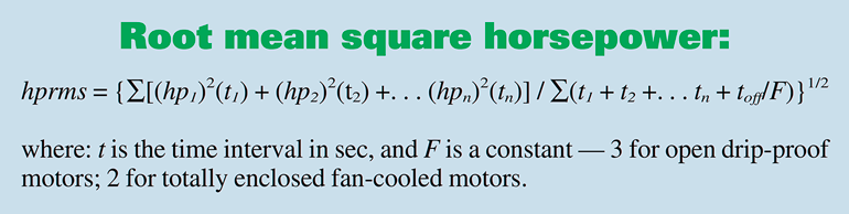 1. Calculation for root mean square power.