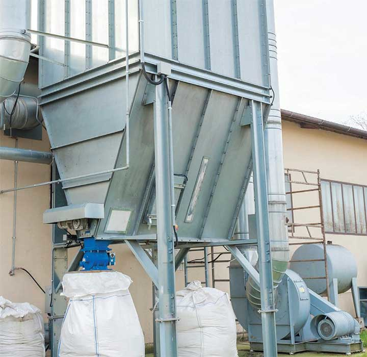 Dust collector systems help protect workers and equipment by removing dust and particulates from facilities. Some facilities, like those in the aggregates industry, recycle collected particulates and sell them as byproducts.
