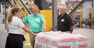 Visitors tour HarbisonWalker International's South Point, Ohio, plant during its grand opening celebration in August.