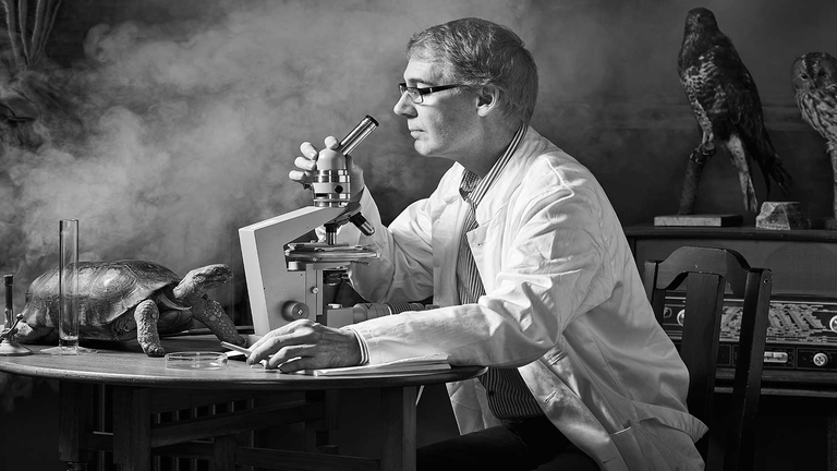 Scientist looking for new innovations.