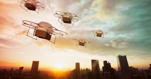 Drones In Sky Getty Thinkstock