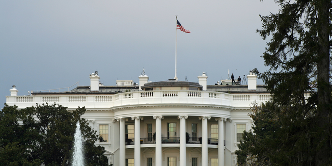 White House, On A Cloudy Day, With Some Trees And A Fountain Charles Montgomvery Dreamstime Xxl 172819603