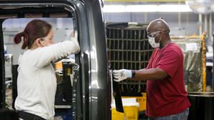Ford Motors Mask Wearing Workers 5ec2b38472491