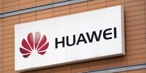 Huawei Logo Brickish Wall Red On White Flower Logo J P Dreamstime