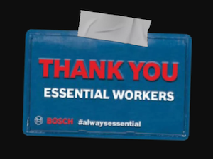 Bosch Thank You Essential Workers