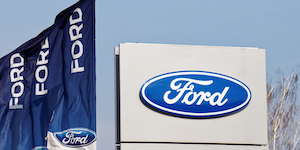 Ford Logo Dealership Flags Konstantin Markov Dreamstime