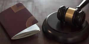 Gavel With Passport Or Visa Travel Papers Desktop Judge Immigration © Raquelsfranca Dreamstime