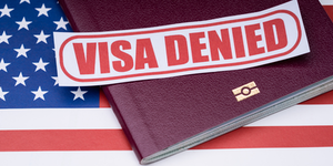 Visa Usa Us America American Flag Work Permit Denied H1 B Immigration © Andrey Popov Dreamstime