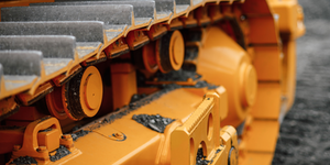 Yellow Heavy Construction Equipment Treads Caterpillar Yellow © Kiseleva Ekaterina Dreamstime