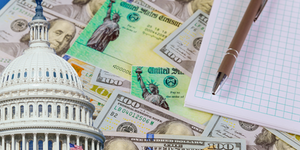 Capital Building Stimulus Checks Payment Math Relief Government Funding Pencil Photovs Dreamstime
