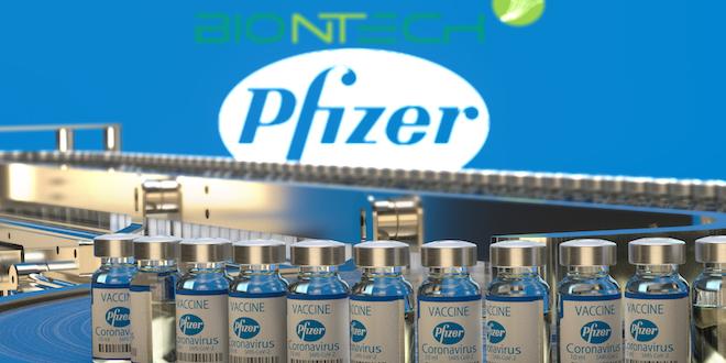 Coronavirus Vaccine Vials Pfizer Biontech Branding Mariusz Burcz Dreamstime