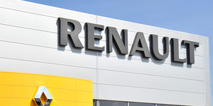 Renault Logo Building Front Fotografescu Dreamstime