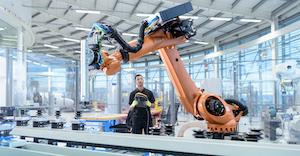 Engineer Programming Robot