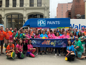 PPG employees marched in the Pittsburgh Pride Parade in 2018. Credit: PPG