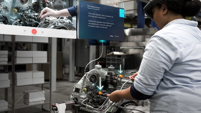 Hololens 2 Dynamics 365 Guides Holographic Training Fuel Injection