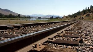 Railroad Tracks Near River 601b76a726dfc