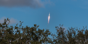 Spacex Heavy Capsule Launching In Distance © Valerianic Dreamstime
