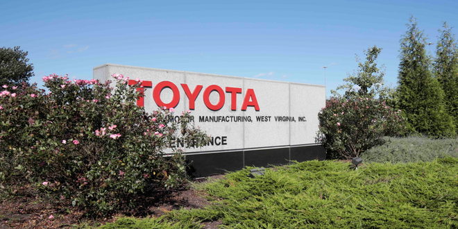 Toyota Motors West Virginia Buffalo Factory Sign Credit Toyota Motors